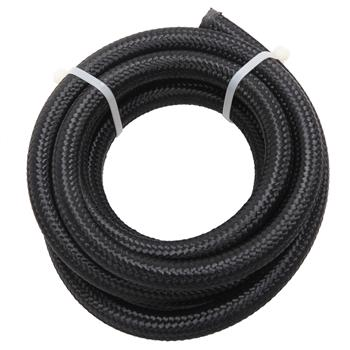 8AN 10-Foot Universal Stainless Steel Braided Fuel Hose Black