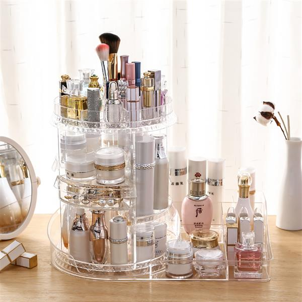 The Makeup Table Is Rotated At 360 Degrees, 7 Layers Can Be Adjusted, Different Types Of Cosmetics, Different Types Of Cosmetics, Multi-Functional Large Storage Platforms, And Lipstick Perfume Are Us