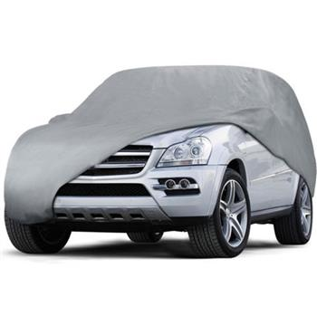 Weatherproof PEVA Car Protective Cover with Reflective Light Silver Gray YL