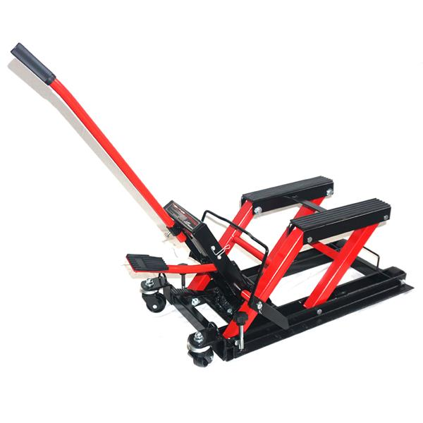 Motorcycle Dirt Bikes ATV 1500lbs Steel Lift Stand Red
