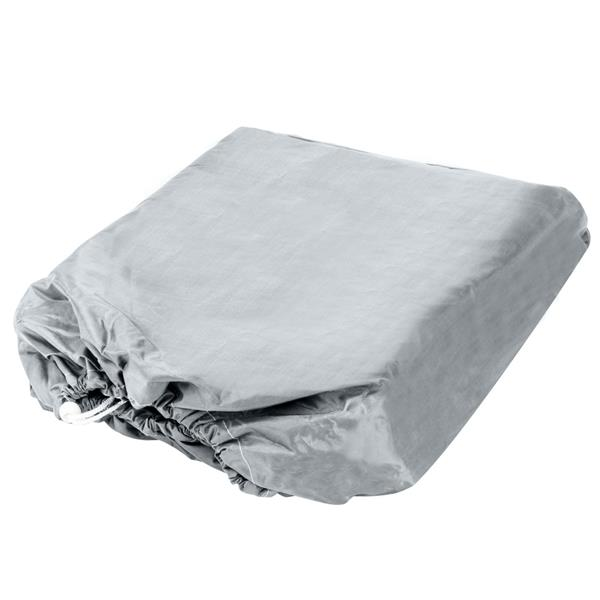 16-18ft 600D Oxford Fabric High Quality Waterproof Boat Cover with Storage Bag Gray