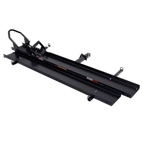 SH 1503 Hitch Mounted Steel Motorcycle Carrier Black 2#