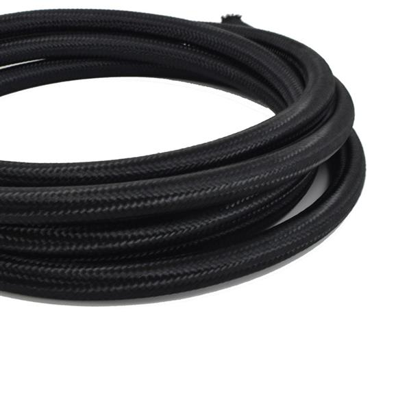8AN 10Ft General Type Stainless Steel Braided Fuel Hose Black