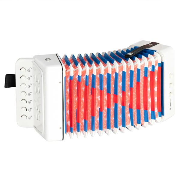 7-Key 2 Bass Kids Accordion Children's Mini Musical Instrument Easy to Learn Music White