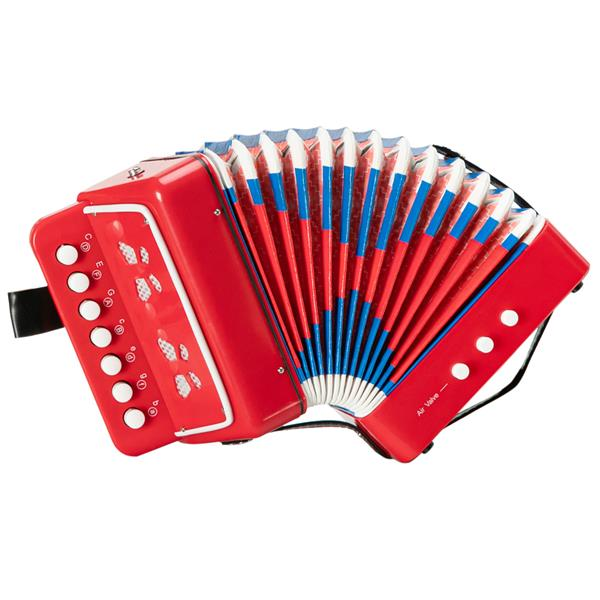 7-Key 2 Bass Kids Accordion Children's Mini Musical Instrument Easy to Learn Music Red