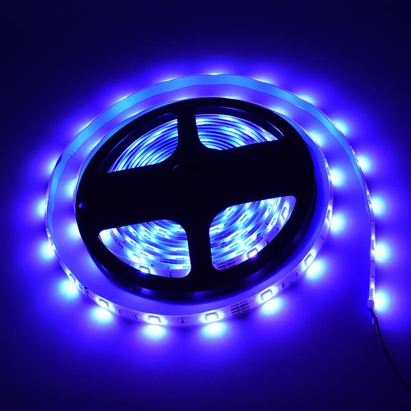 5M LED Strip Lights RGB Strips  Tape Light 150 LEDs SMD5050 Waterproof Music Sync Color Changing + Bluetooth Controller + 24Key Remote Control Decoration for Home TV Party