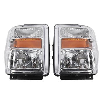 2pcs Front Left Right Headlights for Ford F-250 Super Duty/F-350 Super Duty/F-450 Super Duty/F-550 S