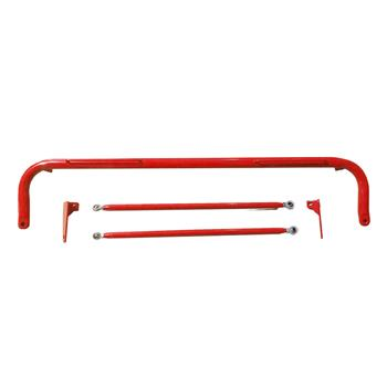 Stainless Steel Seat Guard Rod Red