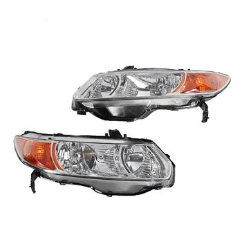 2pcs Front Left Right Headlights for Honda Civic 2006-2011 2-Door Coupe Models