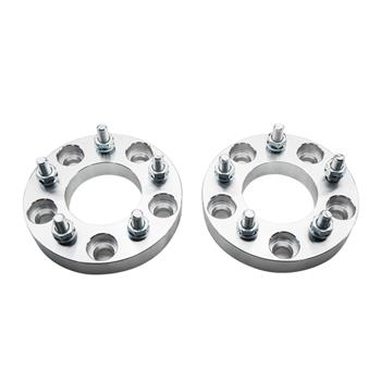 2pcs Professional Hub Centric Wheel Adapters for Chrysler Town & Country/Pacifica Chevrolet Caprice Dodge Grand Caravan/Journey Cadillac Fleetwood Silver