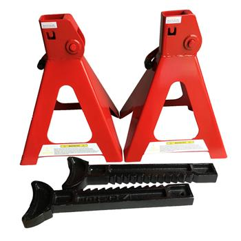 1 Pair of 6 Ton Jack Stands Red