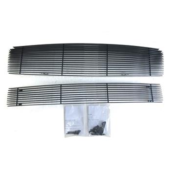 Black Powder Coated Main Upper Grille & Lower Bumper Grille for Nissan Maxima 2009-2014 Black