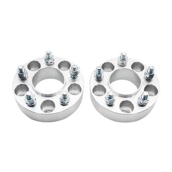 2pcs Professional Hub Centric Wheel Adapters for Jeep 1984-2012 Silver