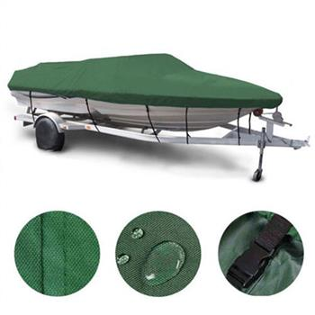 16-18ft 600D Oxford Fabric High Quality Waterproof Boat Cover with Storage Bag Dark Army Green