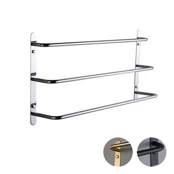 304 Stainless Steel Hand Polishing Finished Three Stagger Layers  Towel Bars Towel Rack Wall Mounted Multilayer Bathroom Accessories 23.62 inch bars KJWY003YIN-60CM