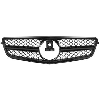 ABS Plastic Car Front Bumper Grille for 08-14 Mercedes W204 C230 C280 C300 C350 ABS Plastic Coating With No Logo