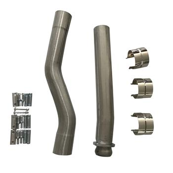 Exhaust Manifold Fits 03-07 Ford Powerstroke F250 F350 Muffler and Cat DELETE Pipe 6.0 KIT Clamps