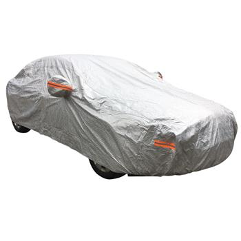 CPP Soft Aluminum Outdoor Waterproof Snow Sun Rain Ice UV Resistance Reflective Strip Car Cover with