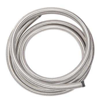 8AN 10-Foot Universal Stainless Steel Braided Fuel Hose Silver