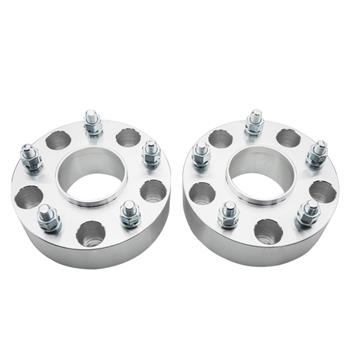 2pcs Professional Hub Centric Wheel Adapters for Dodge 1994-2003 Silver