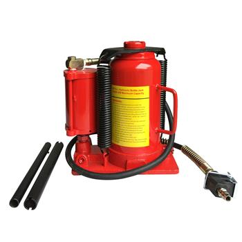 20 Ton Air Hydraulic Bottle Jack Red
