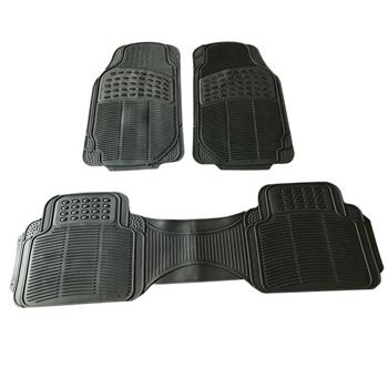 3pcs Replacement Anti-slip Rubber Car Floor Mats Black