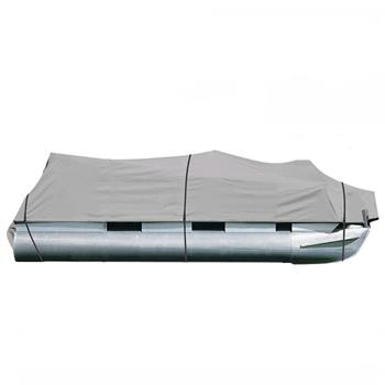 25-28ft 600D Oxford Fabric High Quality Waterproof Boat Cover with Storage Bag Gray