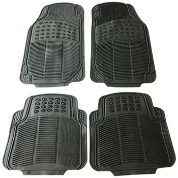 4pcs Replacement Anti-slip Rubber Car Floor Mats Black