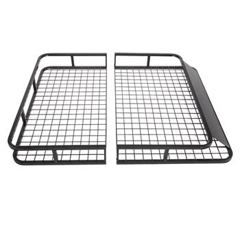 "48"" x 40"" Universal Roof Rack Car Top Cargo Basket Black"
