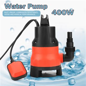 Heave Duty 400W Electric Submersible Pump for Clean Dirty Flood Water US Plug 110V