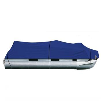 25-28ft 600D Oxford Fabric High Quality Waterproof Boat Cover with Storage Bag Blue
