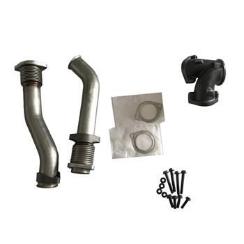 Exhaust Manifold For 7.3L Ford Powerstroke 99.5-03 Bellowed Turbo Diesel Exhaust Up Pipes&Gasket