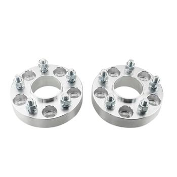 2pcs Professional Hub Centric Wheel Adapters for Infiniti Nissan Silver