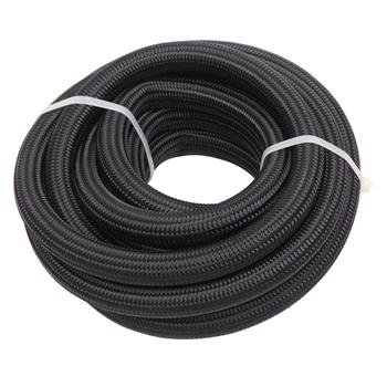 10AN 16-Foot Universal Stainless Steel Braided Fuel Hose Black