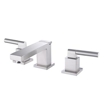 3 Holes Two Handles Sink Widespread Brushed Bathroom Faucet Hot Cold Water Toilet Water Tap