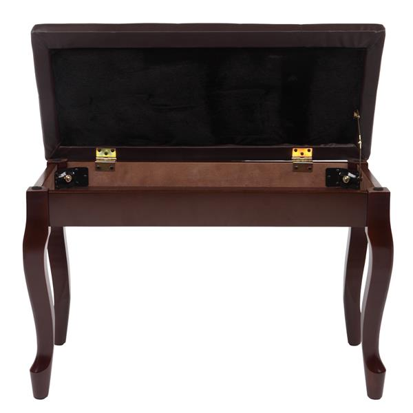 29inch piano bench brown
