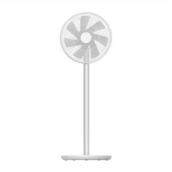 smartmi Standing Oscillating Pedestal Fan 2S, DC Motor Quiet Fans,Portable Outdoor Floor Electric Fans for Bedrooms Home Use,4 Power Setting Built-in Lithium-ion Battery Cordless,Works With Mi Home