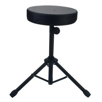 Glarry Non-adjustable Folding Percussion Drum Stool Round Seat