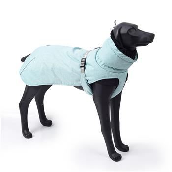 New Style Dog Winter Jacket with Waterproof Warm Polyester Filling Fabric-(blue ,size 2XL)