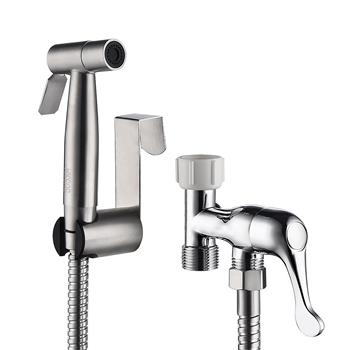 Women Men Handheld Bidet Sprayer Bathroom Cloth Diaper Sprayer Kit Stainless Steel Toilet Spray