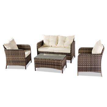Oshion Outdoor Leisure Sofa Combination Four-piece Set-Gray Package-1 (Combination Total 2 Boxes)