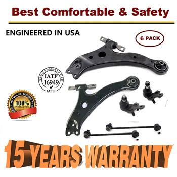 6pc Front Lower Control Arm & Ball Joints Sway Bars for Avalon Highlander RX300  - 15 YR WARRANTY