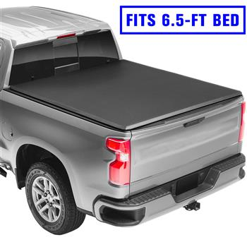 Roll Up Tonneau Cover For 2014-2019 Chevrolet Silverado GMC Sierra 6.5FT Bed