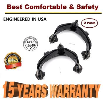 1998 - 2002 Honda Accord Pair Front Upper Control Arms w/Ball Joint & Bushings - 15 YR WARRANTY