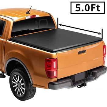 Soft Tri-Fold Tonneau Cover For 2005-2015 Toyota Tacoma 5FT Bed