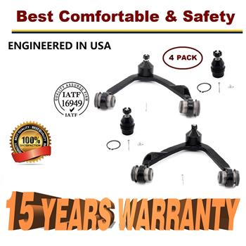 Ford F-150 F-250 Expedition 4WD 4 pc Upper Control Arm Ball Joint Kit  - 15 YR WARRANTY