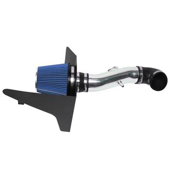 """3.5"""" Intake Pipe With Air Filter for Chevrolet Camaro 2010-2015 6.2L V8 Blue"""
