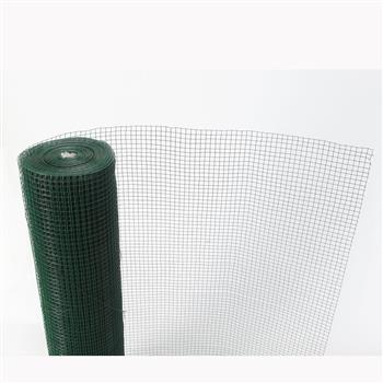 Green PVC Coated Chicken Wire Mesh 6M Fencing Garden Barrier Metal Fence