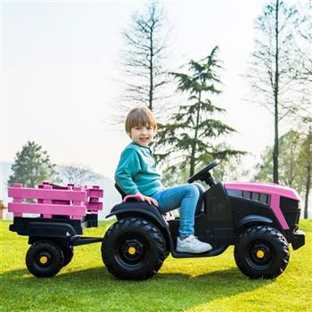 LEADZM LZ-925 Agricultural Vehicle Battery 12V7AH * 1 Without Remote Control with Rear Bucket Pink