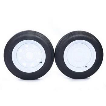 """2 x Tires with 2 White Rim Weight: 36.38 lbs Rim Width: 4"""" millionparts"""